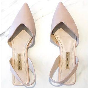 Zara Shoes - Leather Slingback Flats from Zara